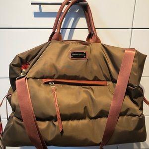 Adrienne Vittadini Olive Weekender Bag